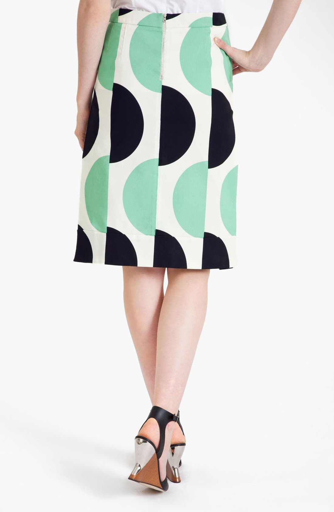 Alternate Image 2  - Marni Large Dot Print Pencil Skirt