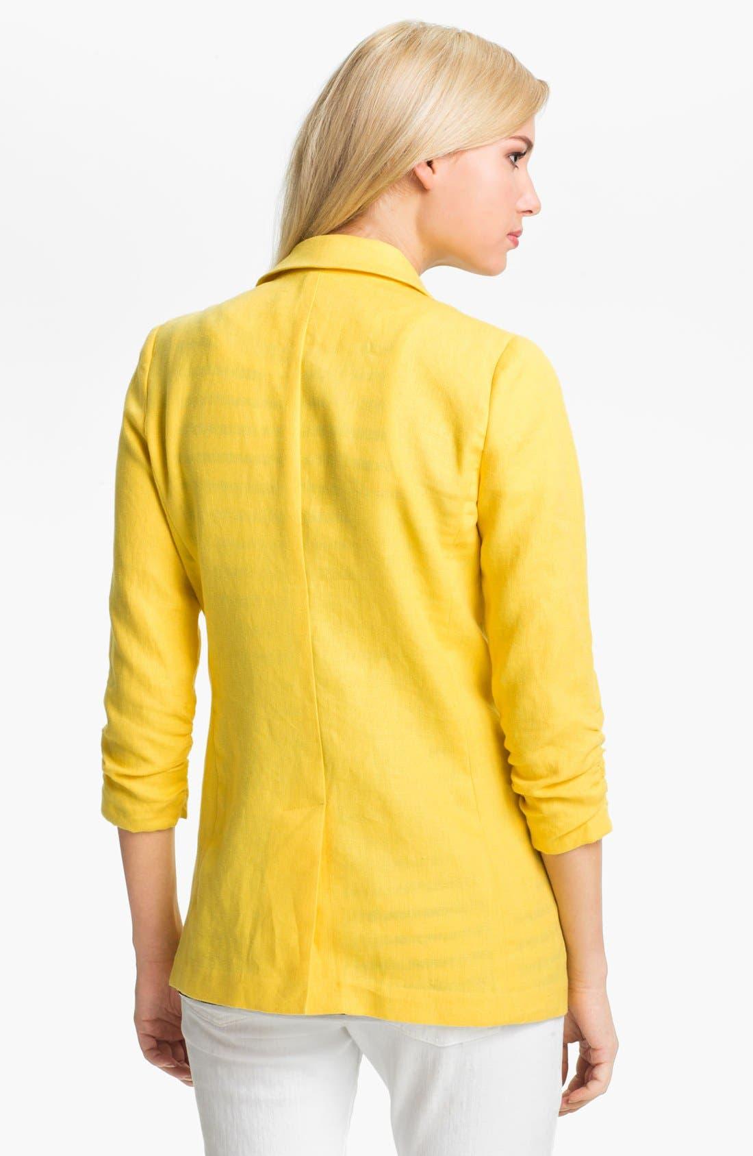 Alternate Image 2  - MICHAEL Michael Kors Shirred Sleeve Jacket
