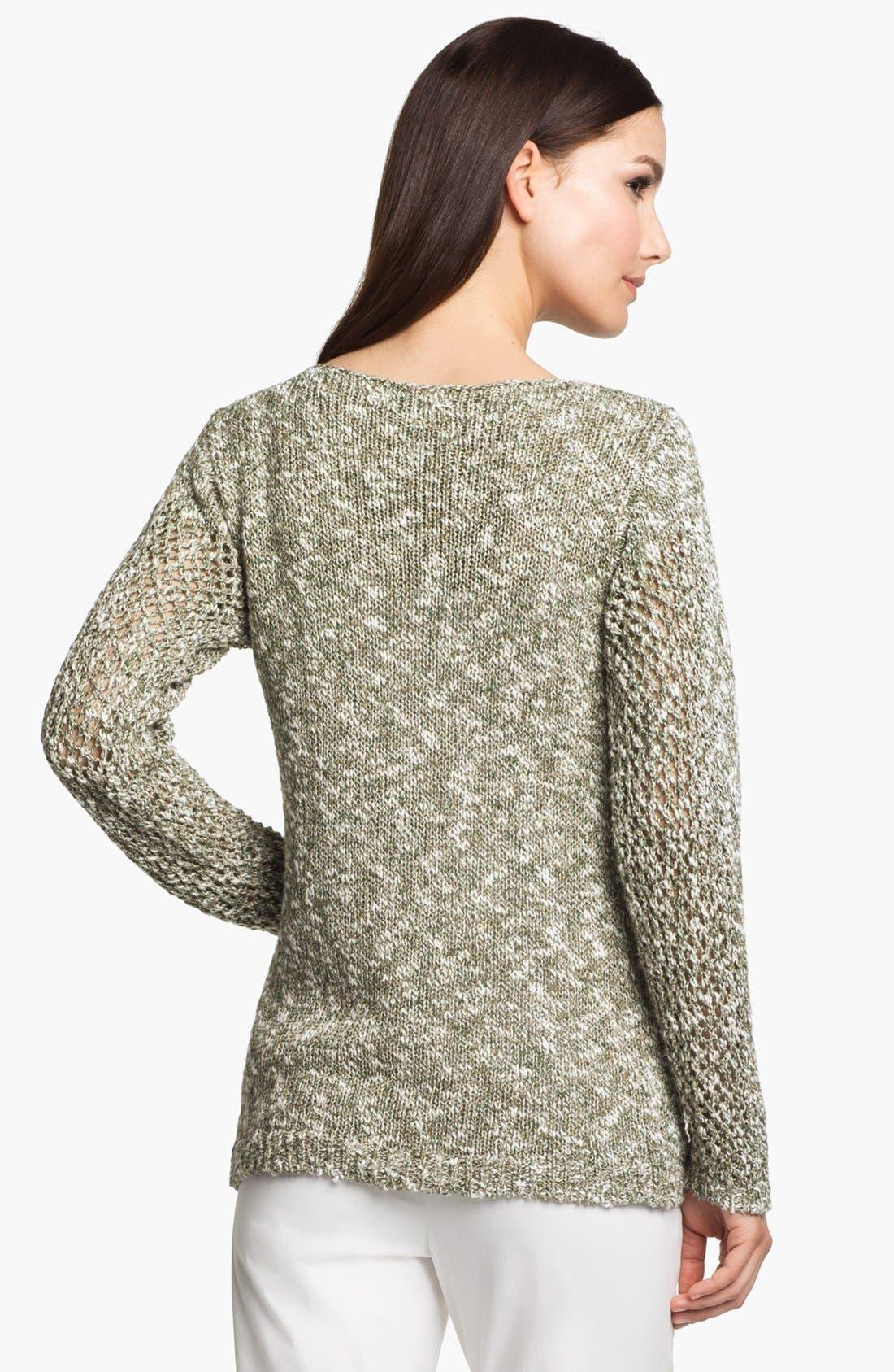 Alternate Image 2  - Lafayette 148 New York 'Chromatic Mélange' Net Stitch Sweater