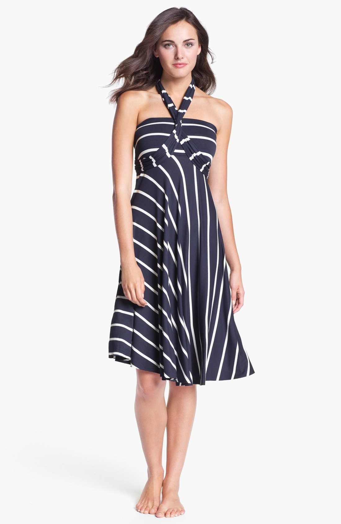 Alternate Image 2  - Elan Stripe Convertible Cover-Up Dress