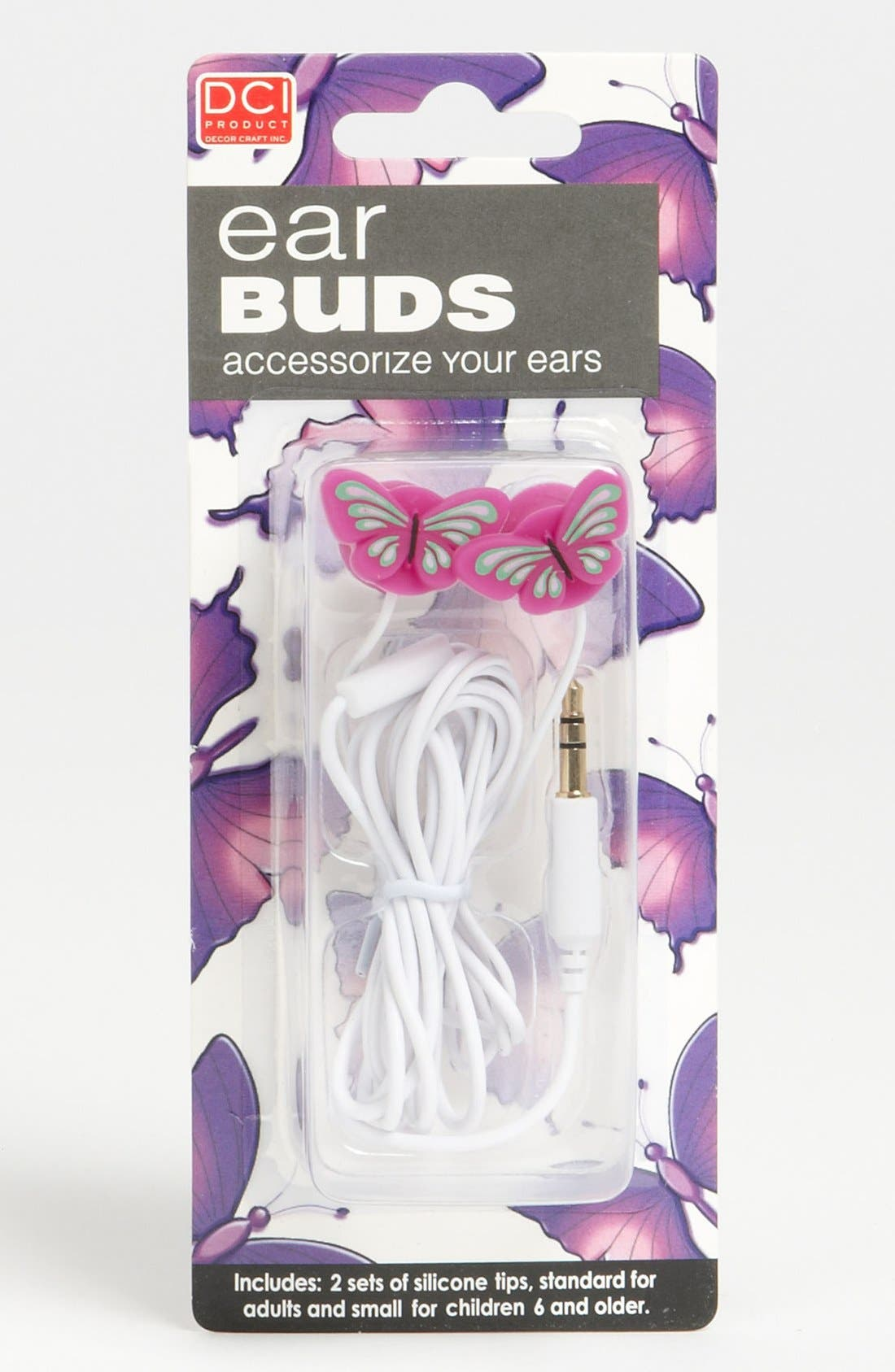 Main Image - DCI Butterfly Earbuds (Girls)