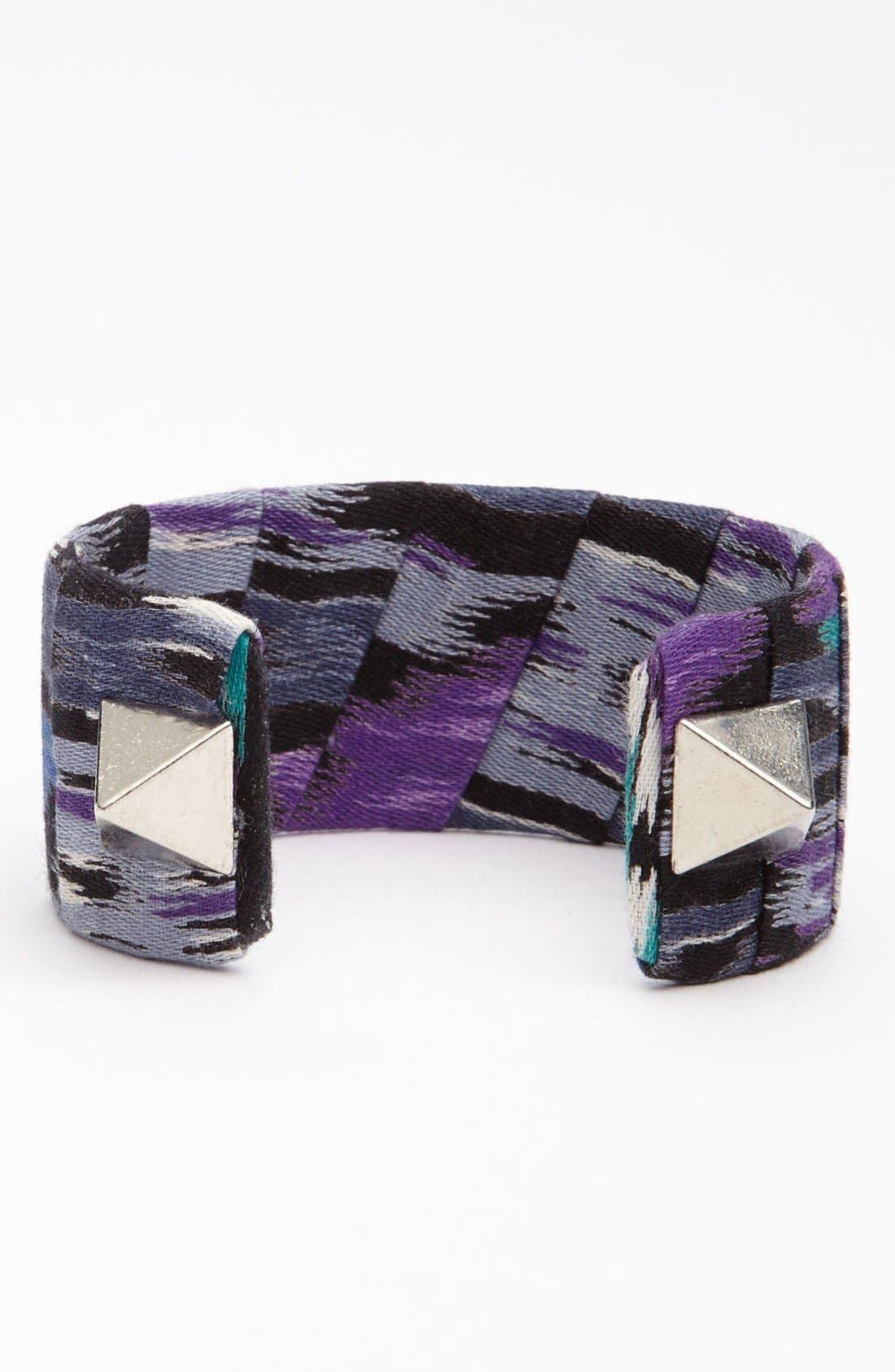 Main Image - Lenora Dame Fabric & Spike Cuff