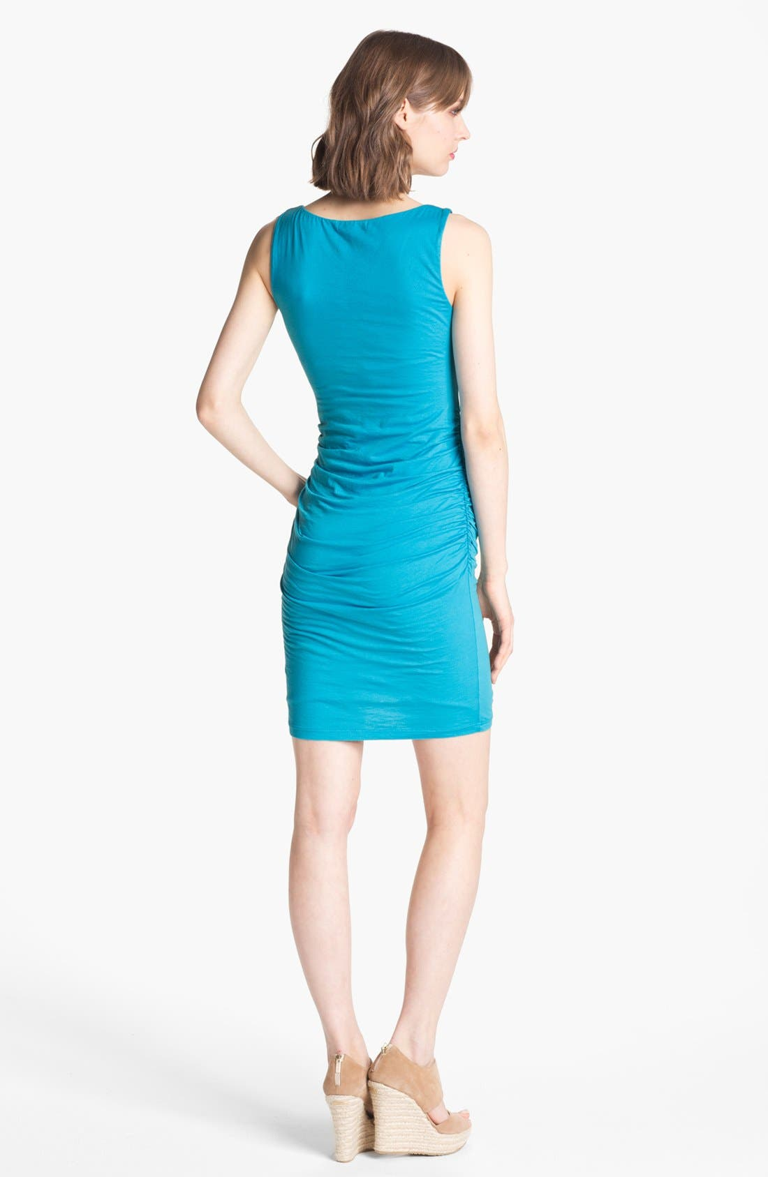 Alternate Image 2  - Velvet by Graham & Spencer Ruched Jersey Tank Dress