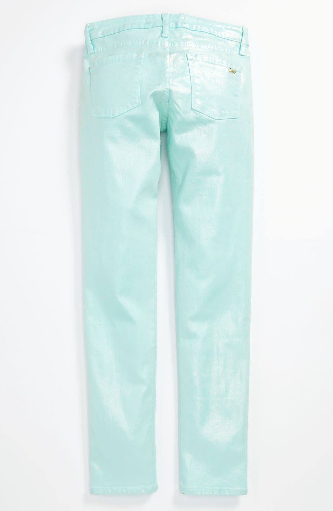 Main Image - Juicy Couture 'Moonstone Foil' Skinny Jeans (Little Girls & Big Girls)