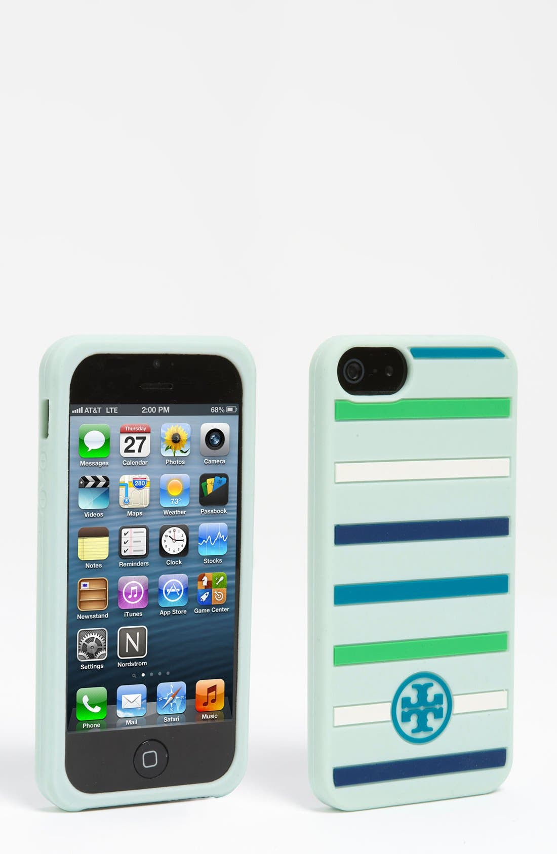 Alternate Image 1 Selected - Tory Burch 'Classic Stripe' iPhone 5 Case