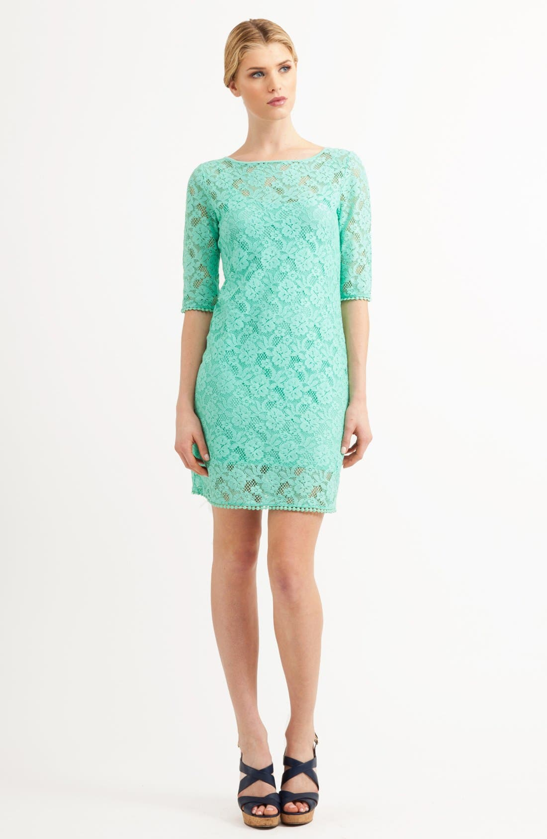 Alternate Image 1 Selected - Three Dots Lace Shift Dress