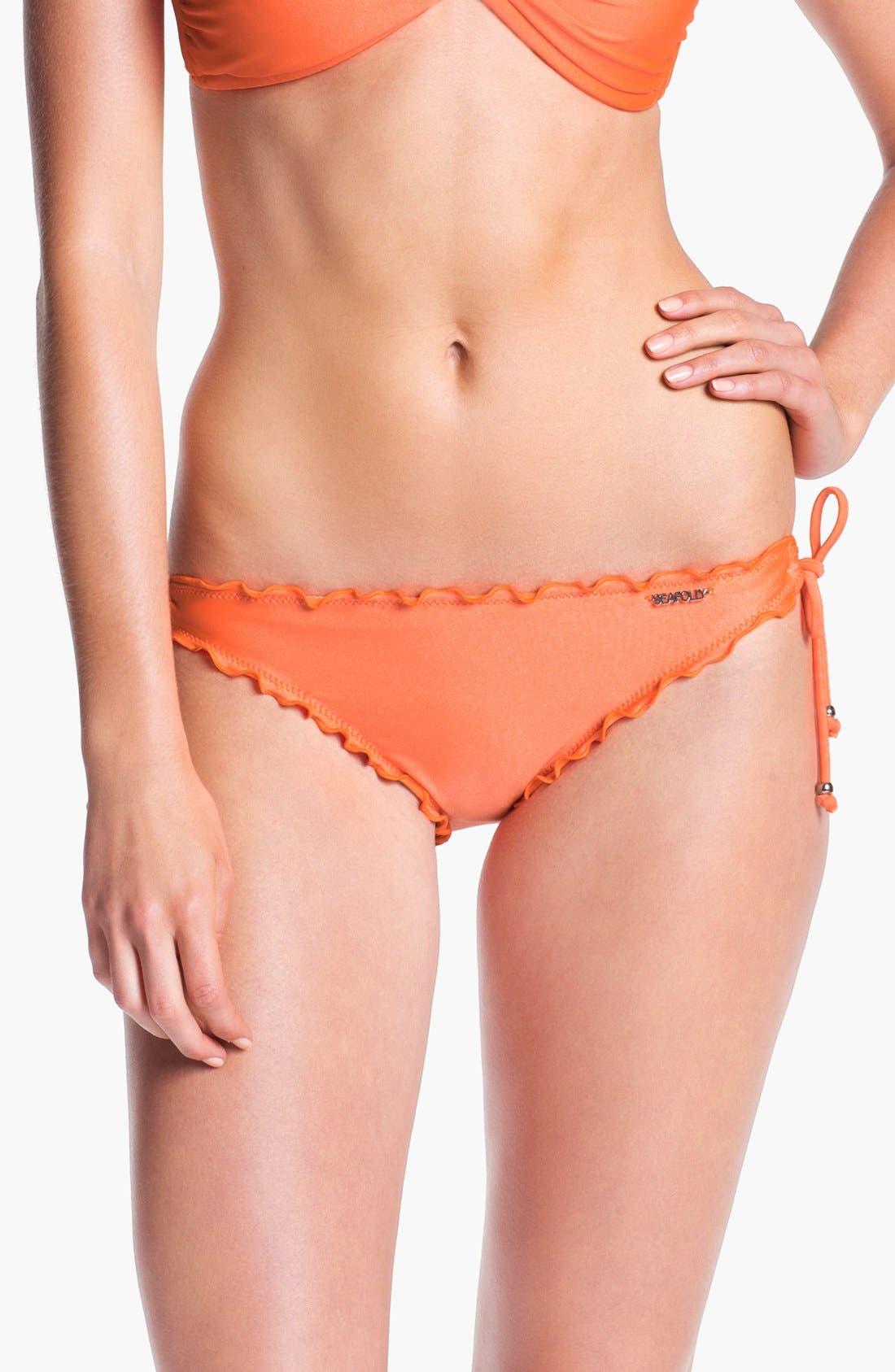 Main Image - Seafolly Ruffle Side Tie Bikini Bottoms
