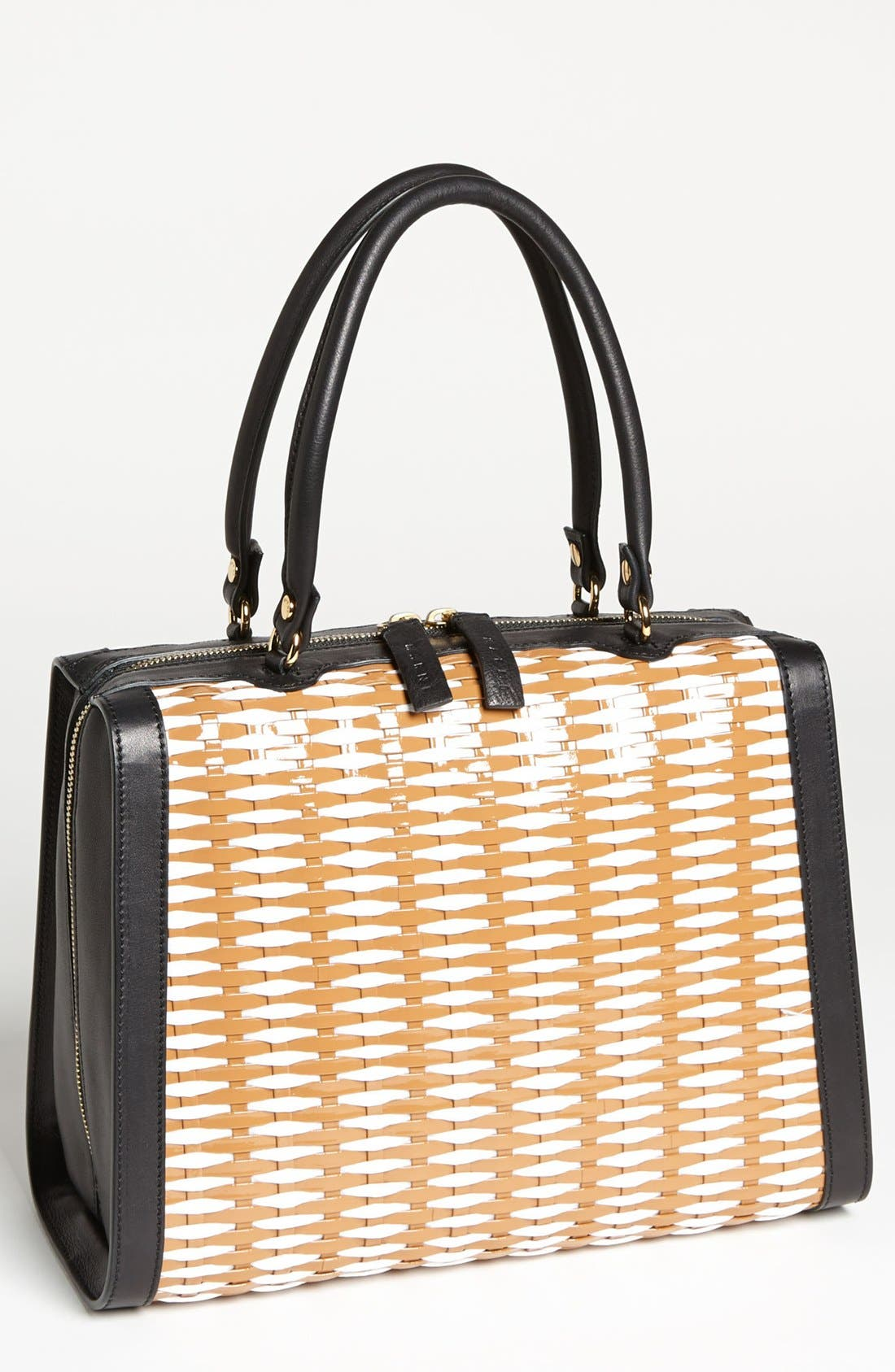 Main Image - Marni Woven Leather & Raffia Satchel