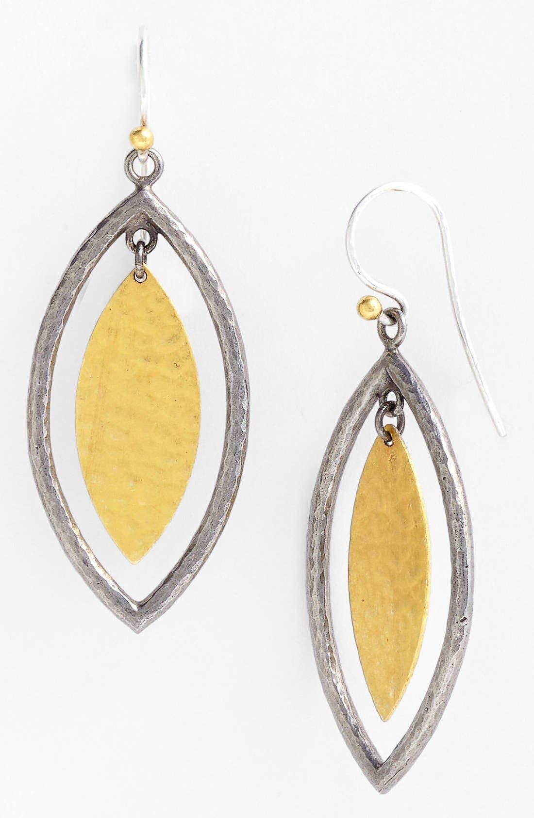 Alternate Image 1 Selected - Gurhan 'Willow' Blackened Silver & Gold Earrings
