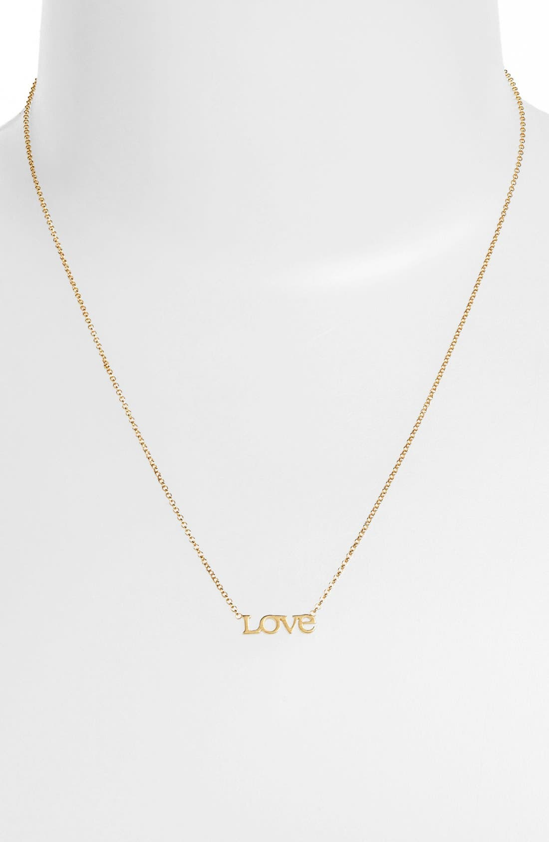 Alternate Image 2  - Dogeared 'Words to Live By - Love' Pendant Necklace