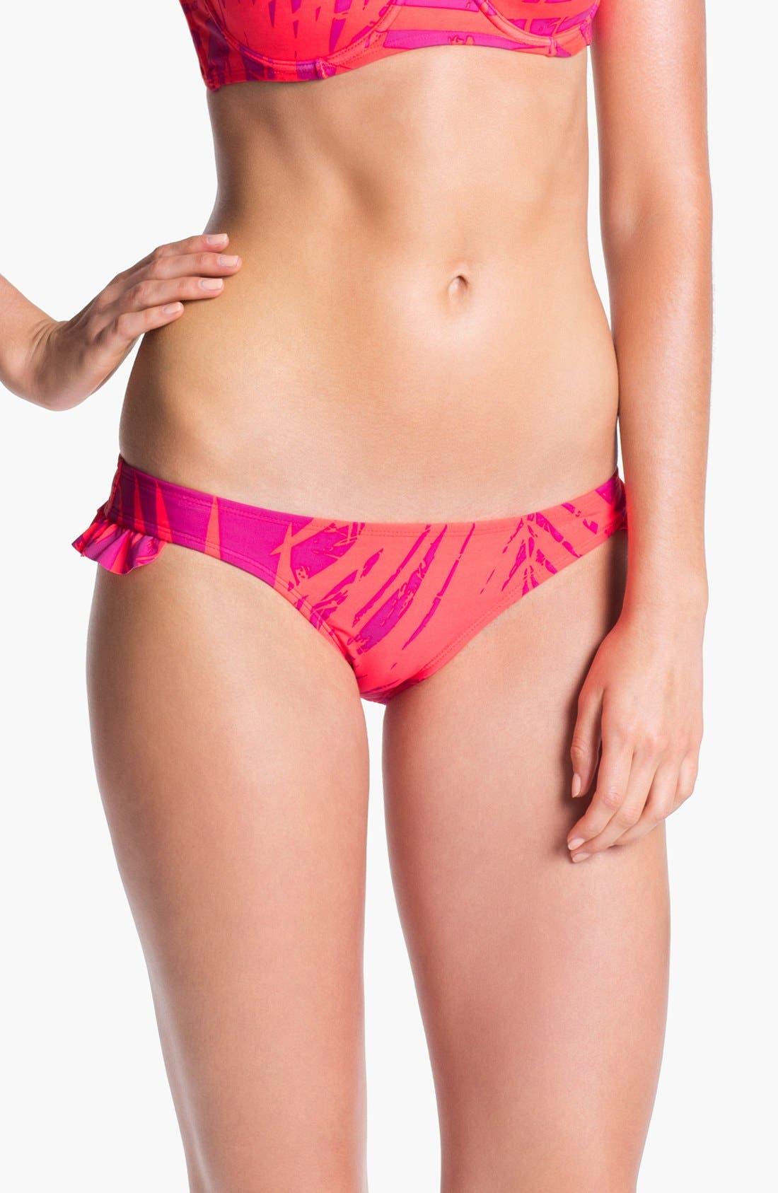 Main Image - 'Boho Bliss' Ruffle Scooter Bikini Bottoms