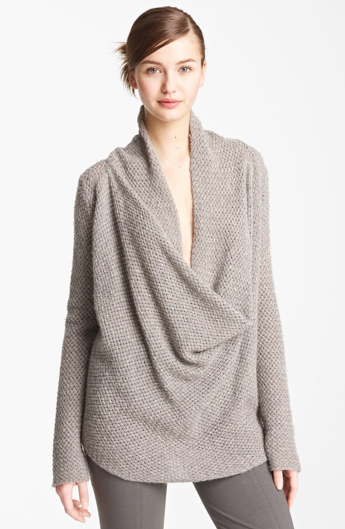 Main Image - Donna Karan Collection Drape Neck Cashmere Sweater