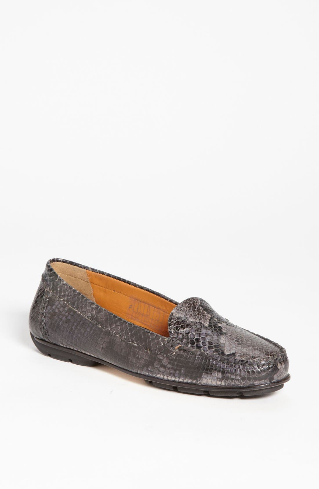 Main Image - Geox 'Italy' Snake Embossed Moccasin (Online Only Color)