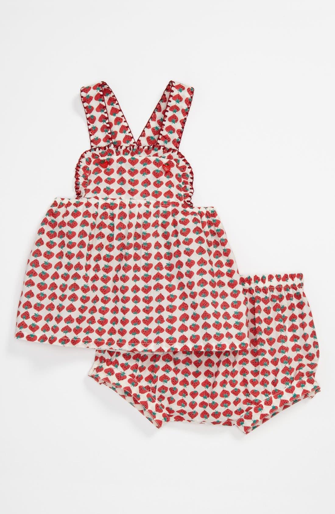 Main Image - Stella McCartney Kids 'Olivia' Dress & Bloomers (Baby)