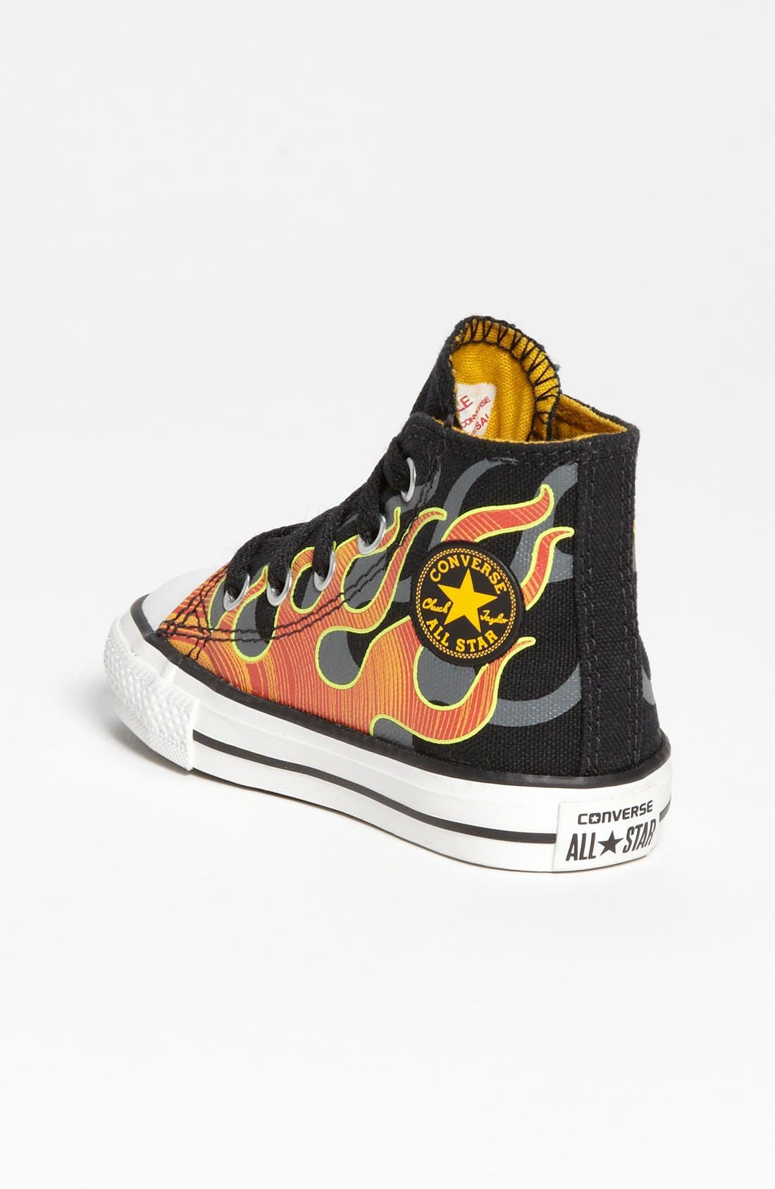 Alternate Image 2  - Chuck Taylor® All Star® 'Flames' High Top Sneaker (Walker & Toddler)