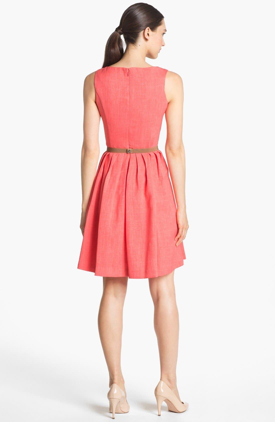 Alternate Image 2  - Ellen Tracy Pleat Fit & Flare Dress