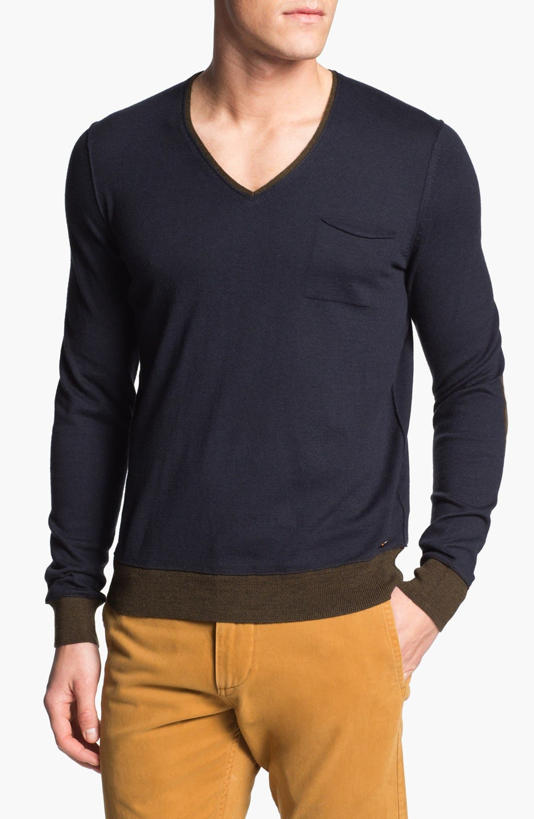 Alternate Image 1 Selected - BOSS Orange 'Accel' V-Neck Sweater