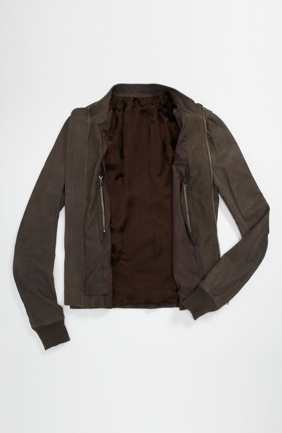 Alternate Image 4  - Rick Owens 'Sternberg' Lambskin Leather Bomber Jacket