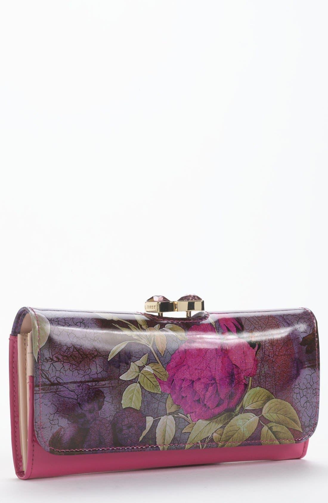 Main Image - Ted Baker London 'Floral Print' Matinee Wallet