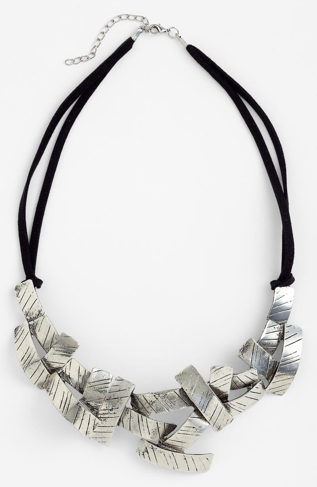 Alternate Image 1 Selected - Natasha Couture Crosshatch Statement Necklace
