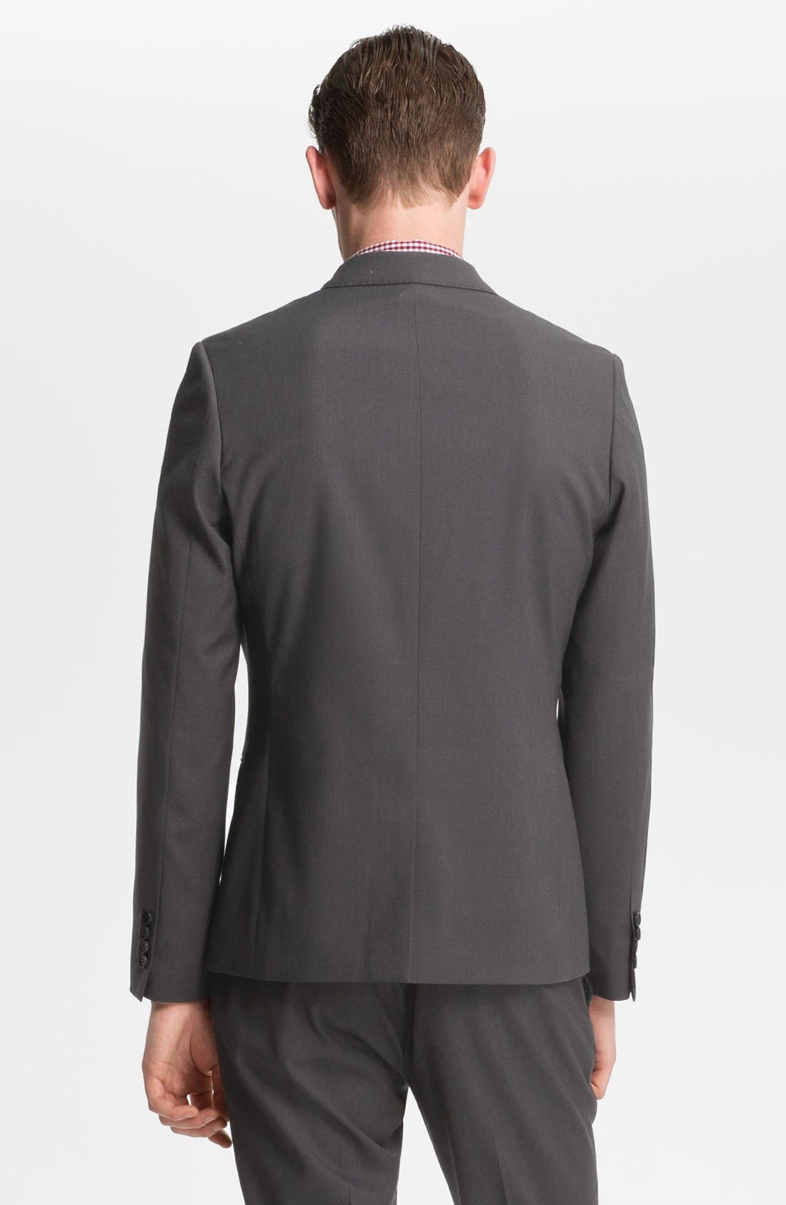 Alternate Image 2  - Topman Skinny One Button Blazer