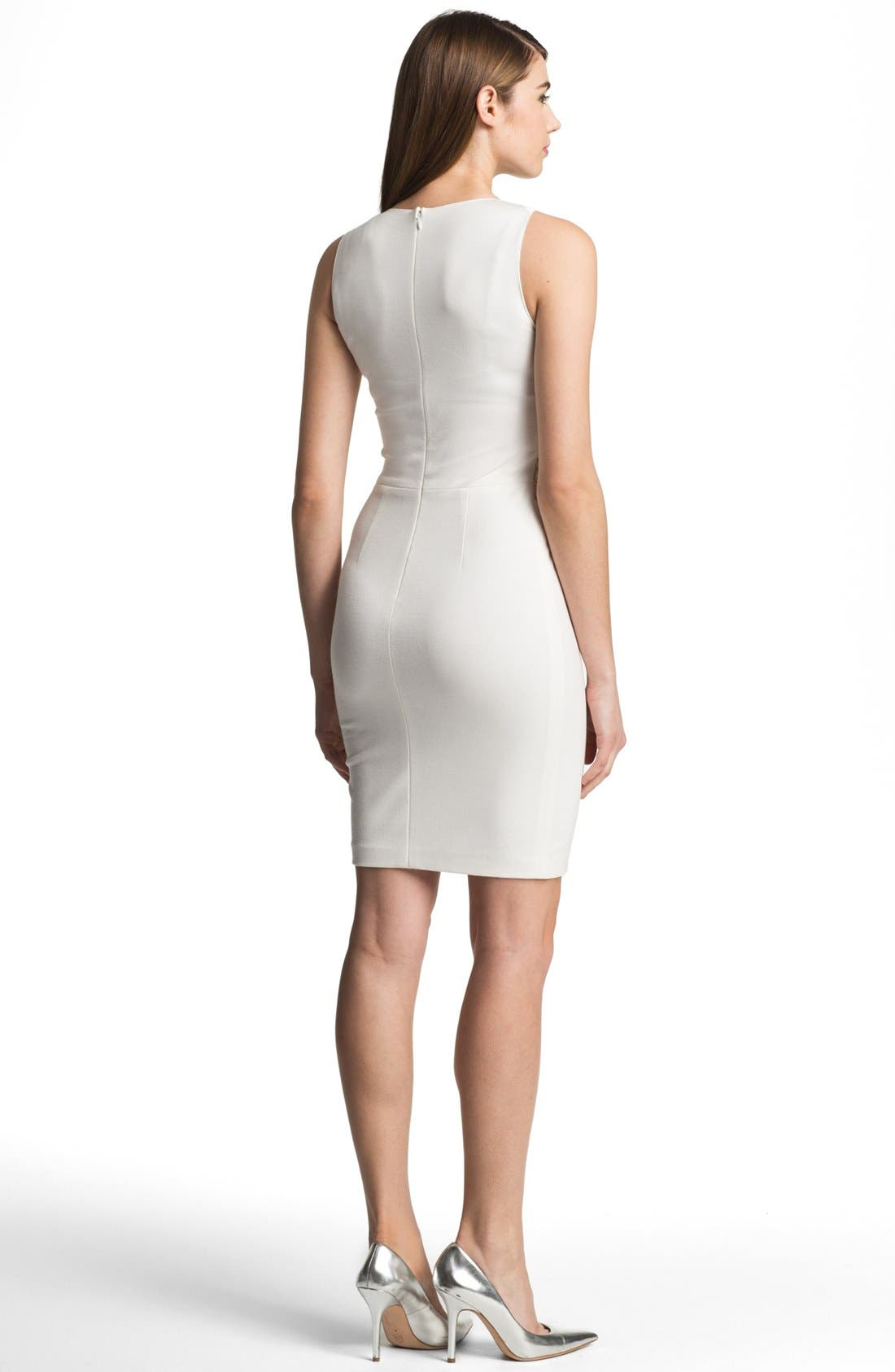 Alternate Image 2  - ERIN erin fetherston Embellished Ponte Sheath Dress