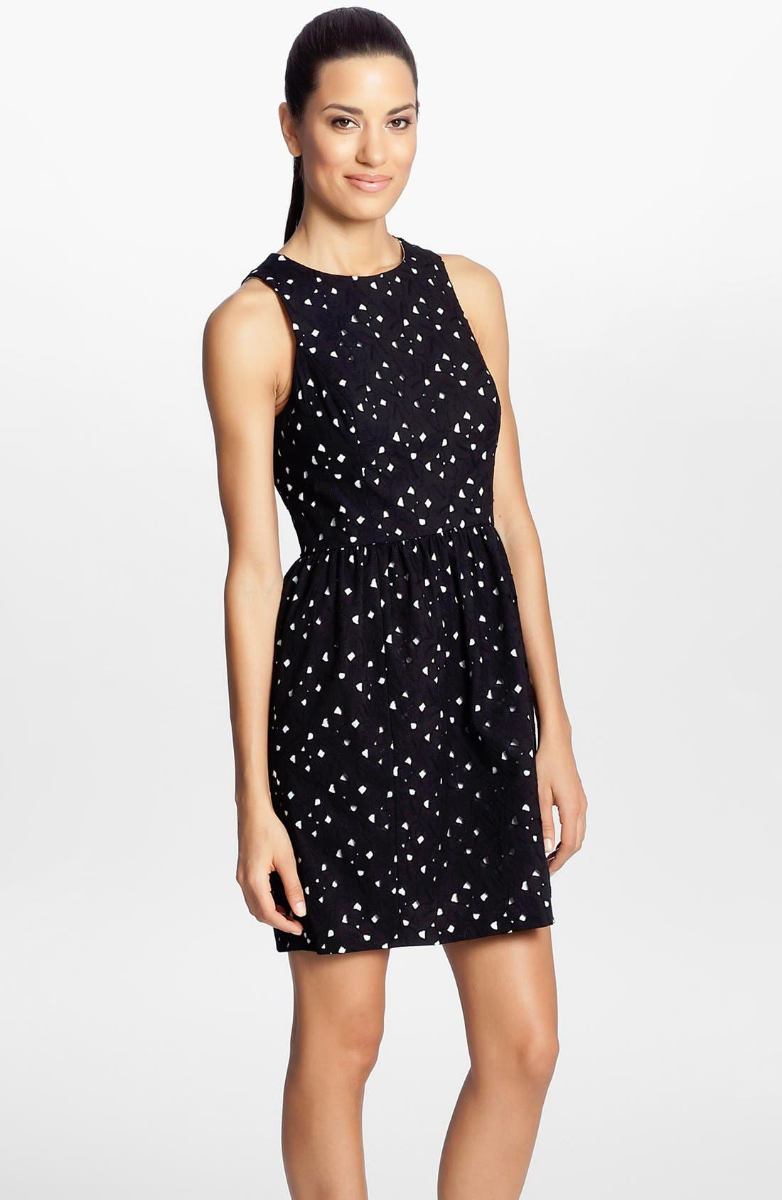 Main Image - Cynthia Steffe 'Peyton' Eyelet Cotton Fit & Flare Dress