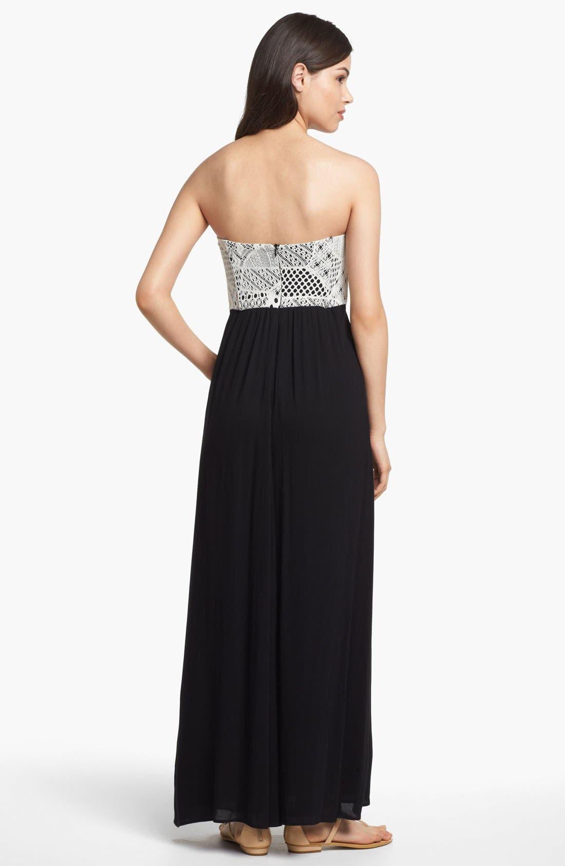 Alternate Image 2  - Ella Moss Strapless Maxi Dress