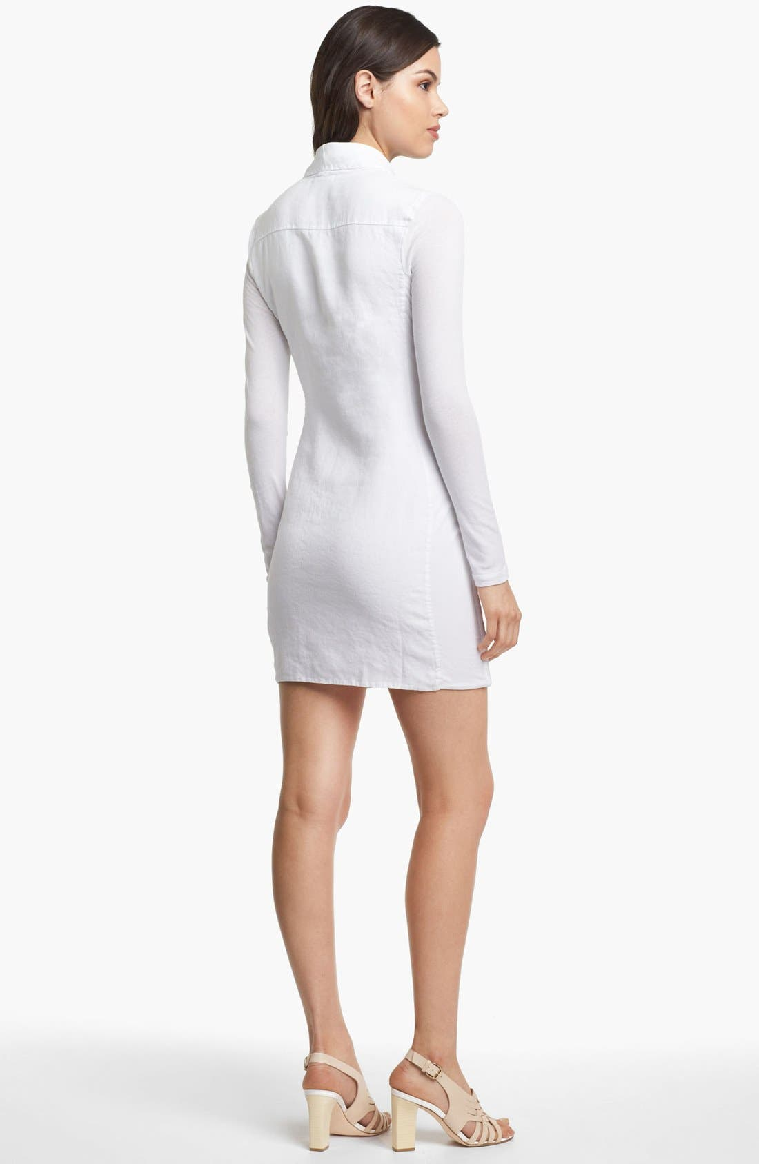 Alternate Image 2  - James Perse Linen Blazer Dress