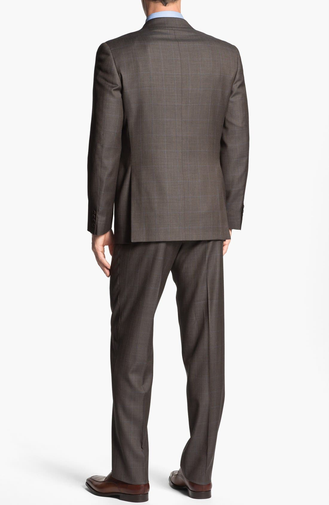 Alternate Image 3  - Joseph Abboud 'Profile Hybrid' Windowpane Trim Fit Wool Suit