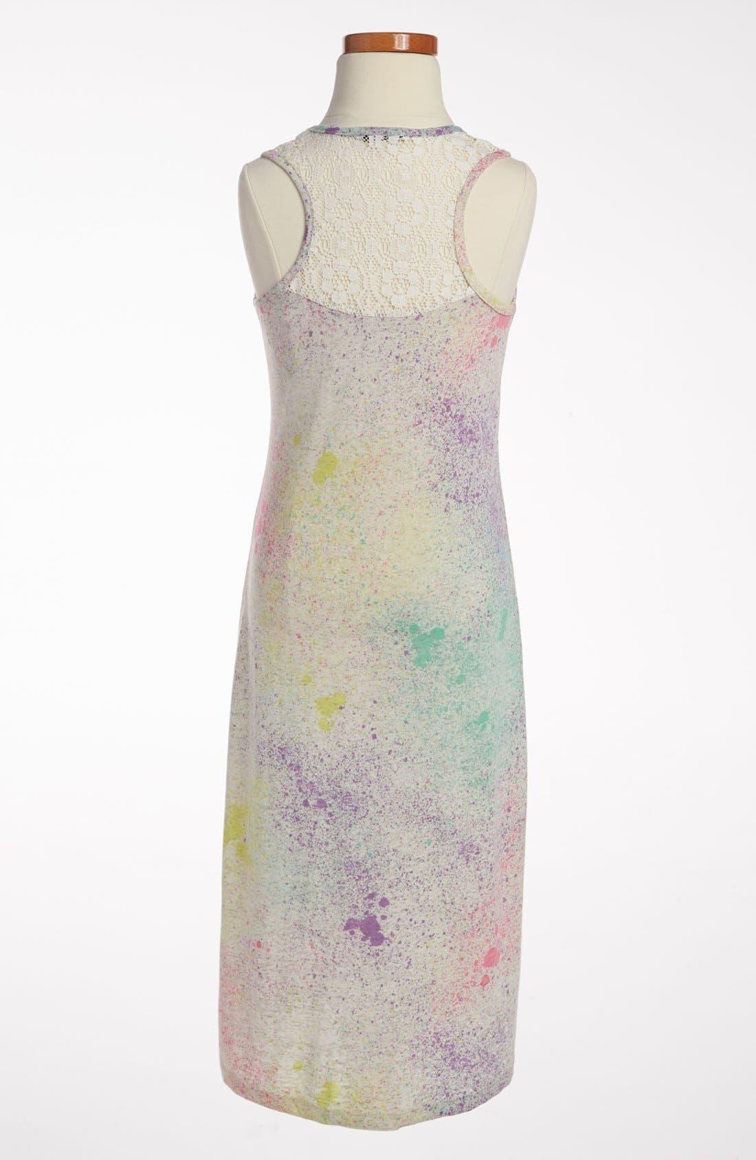 Alternate Image 2  - W Girl 'Paint Splatter' Dress (Little Girls & Big Girls)