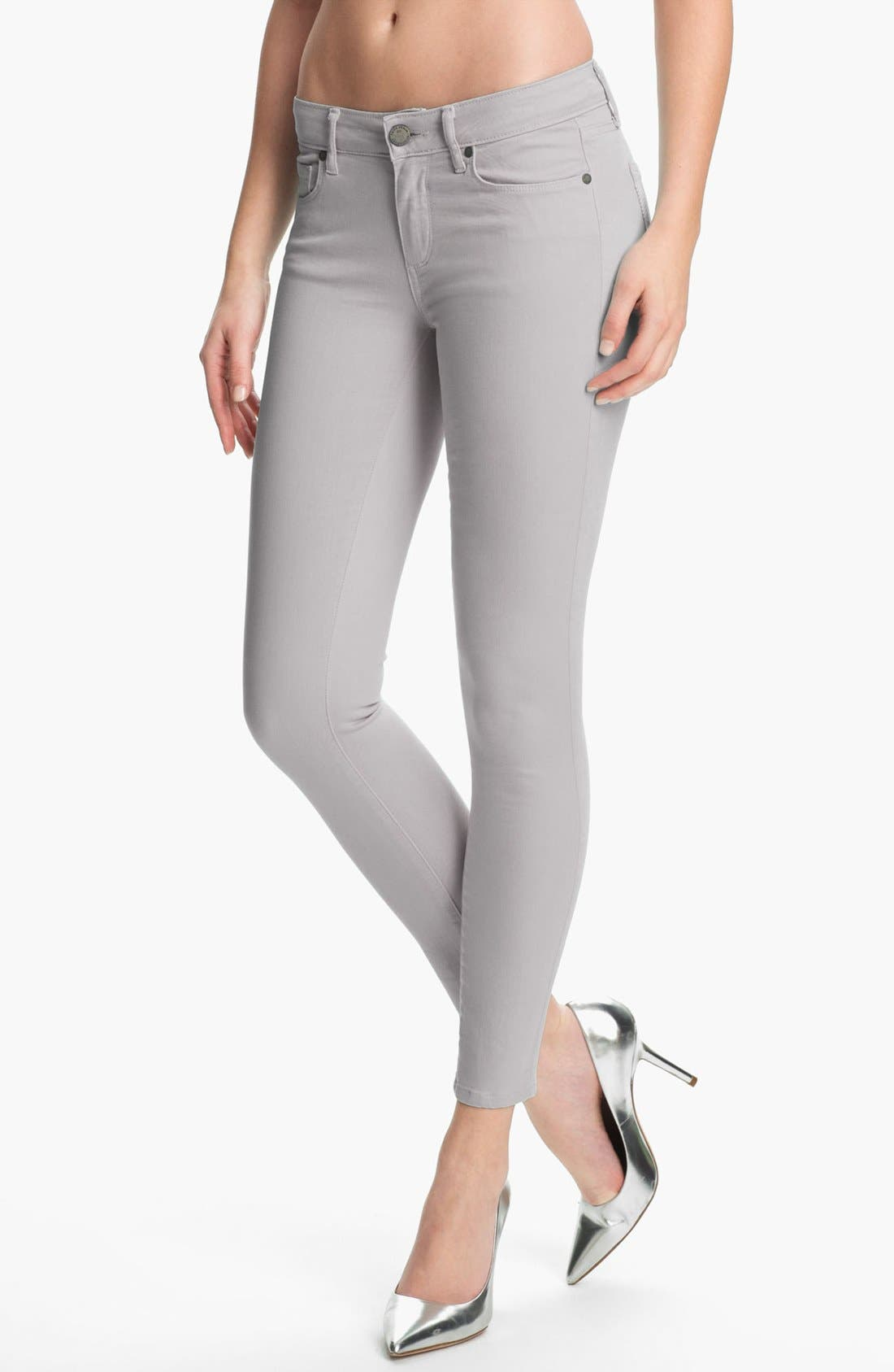 Alternate Image 1 Selected - Paige Denim 'Verdugo' Ultra Skinny Ankle Jeans (Metal)