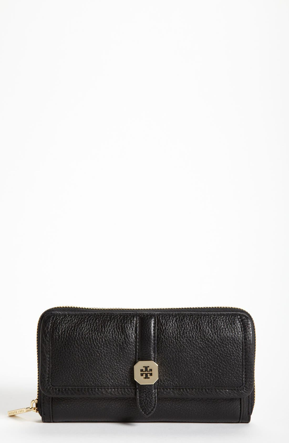 Main Image - Tory Burch 'Clay' Continental Leather Wallet