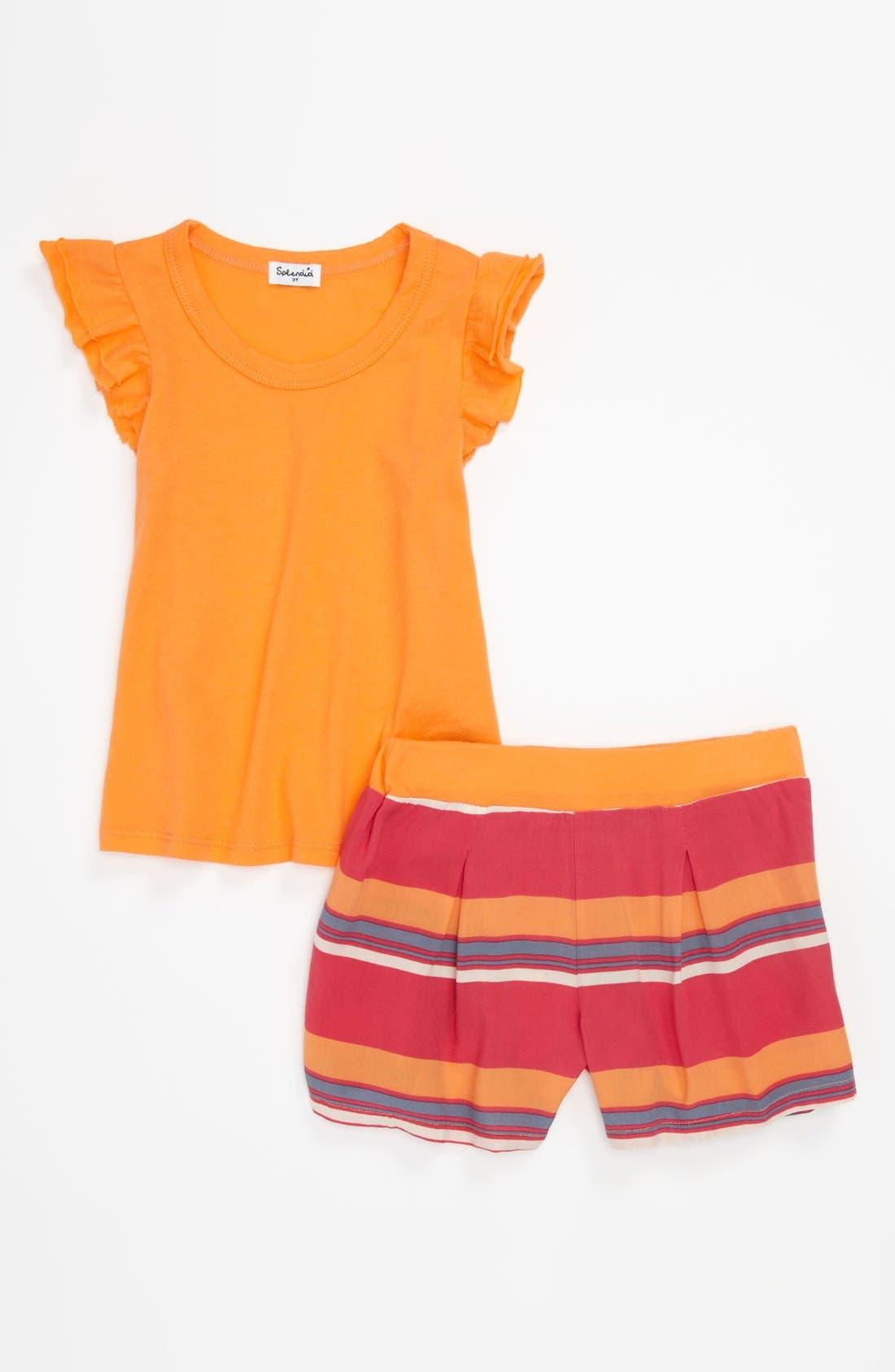 Alternate Image 1 Selected - Splendid 'Cannes' Stripe Voile Short Set (Toddler)