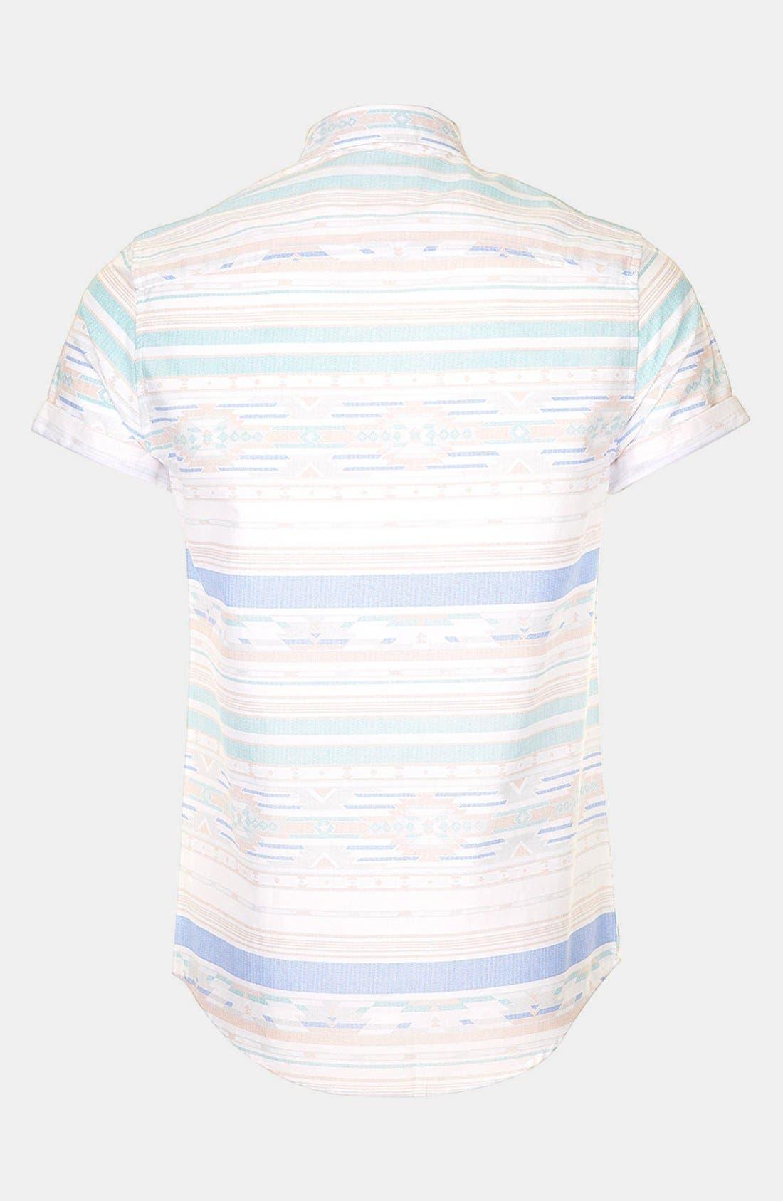 Alternate Image 2  - Topman Aztec Print Shirt