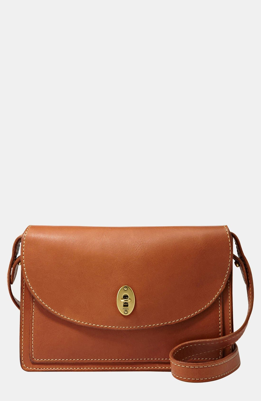 Main Image - Fossil 'Austin' Convertible Leather Clutch