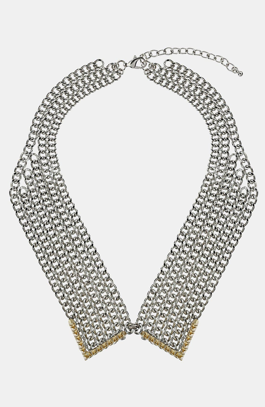 Main Image - Topshop Metal Collar Necklace