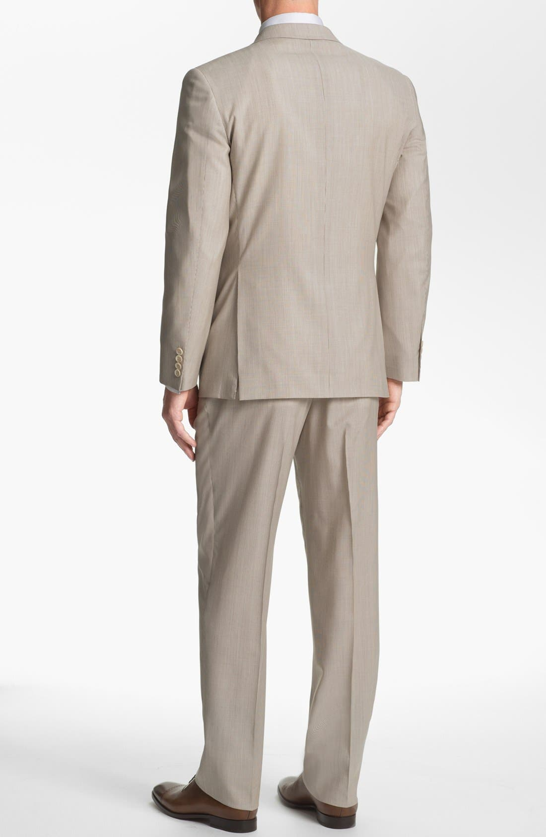 Alternate Image 3  - Joseph Abboud Trim Fit Stripe Wool Suit