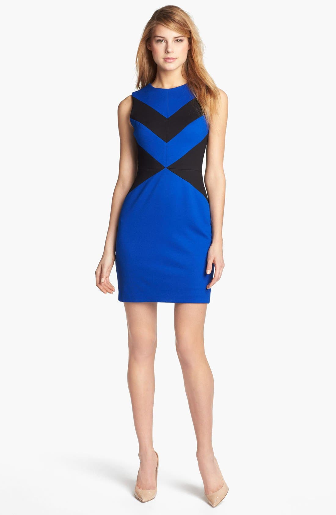 Alternate Image 1 Selected - Cynthia Steffe 'Elizabeth' Sleeveless Colorblock Sheath Dress