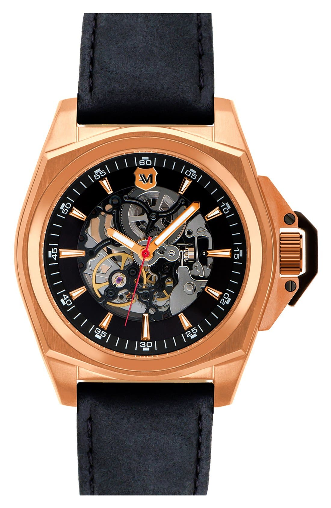Alternate Image 1 Selected - Andrew Marc Watches Automatic Watch, 46mm