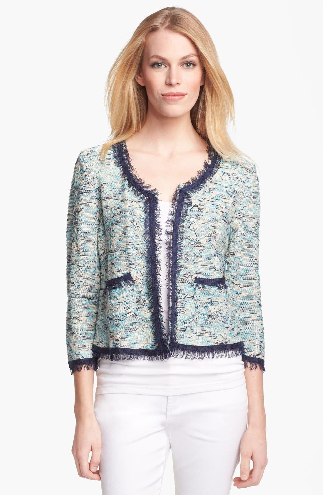 Main Image - Nic + Zoe Tweed Knit Jacket (Petite)