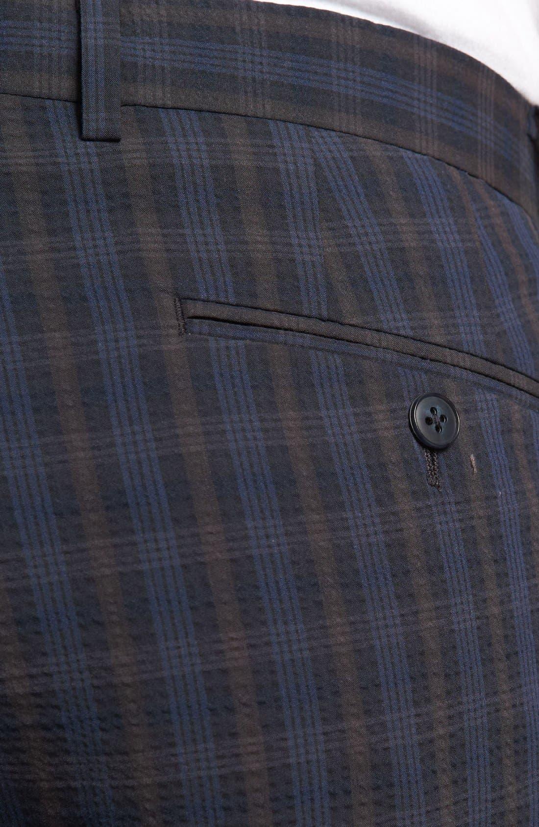 Alternate Image 3  - John Varvatos Star USA Red Label 'Petro' Seersucker Plaid Trousers