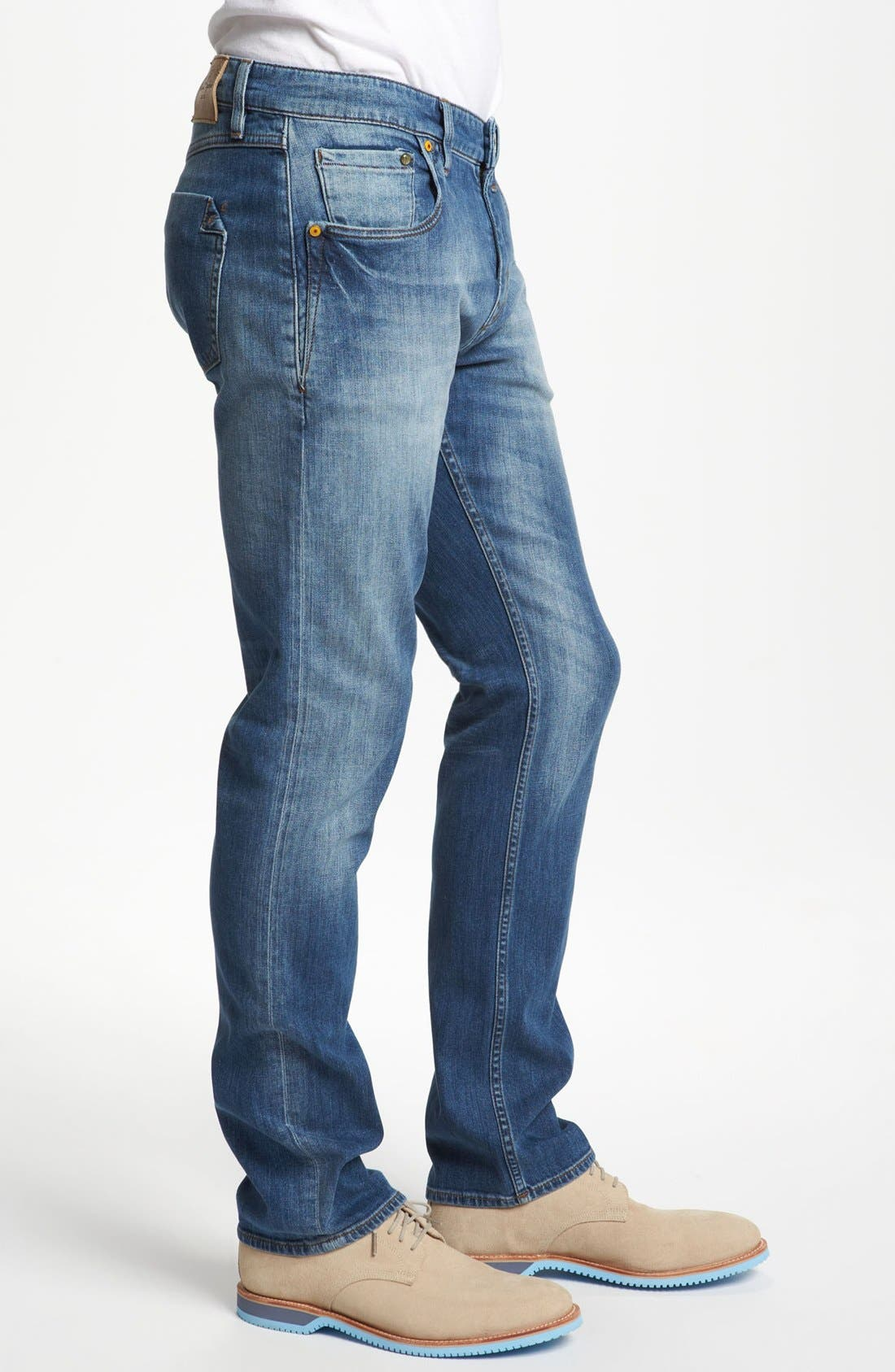 Alternate Image 3  - Robert Graham 'Stretchin' Out' Slim Fit Jeans (Indigo)