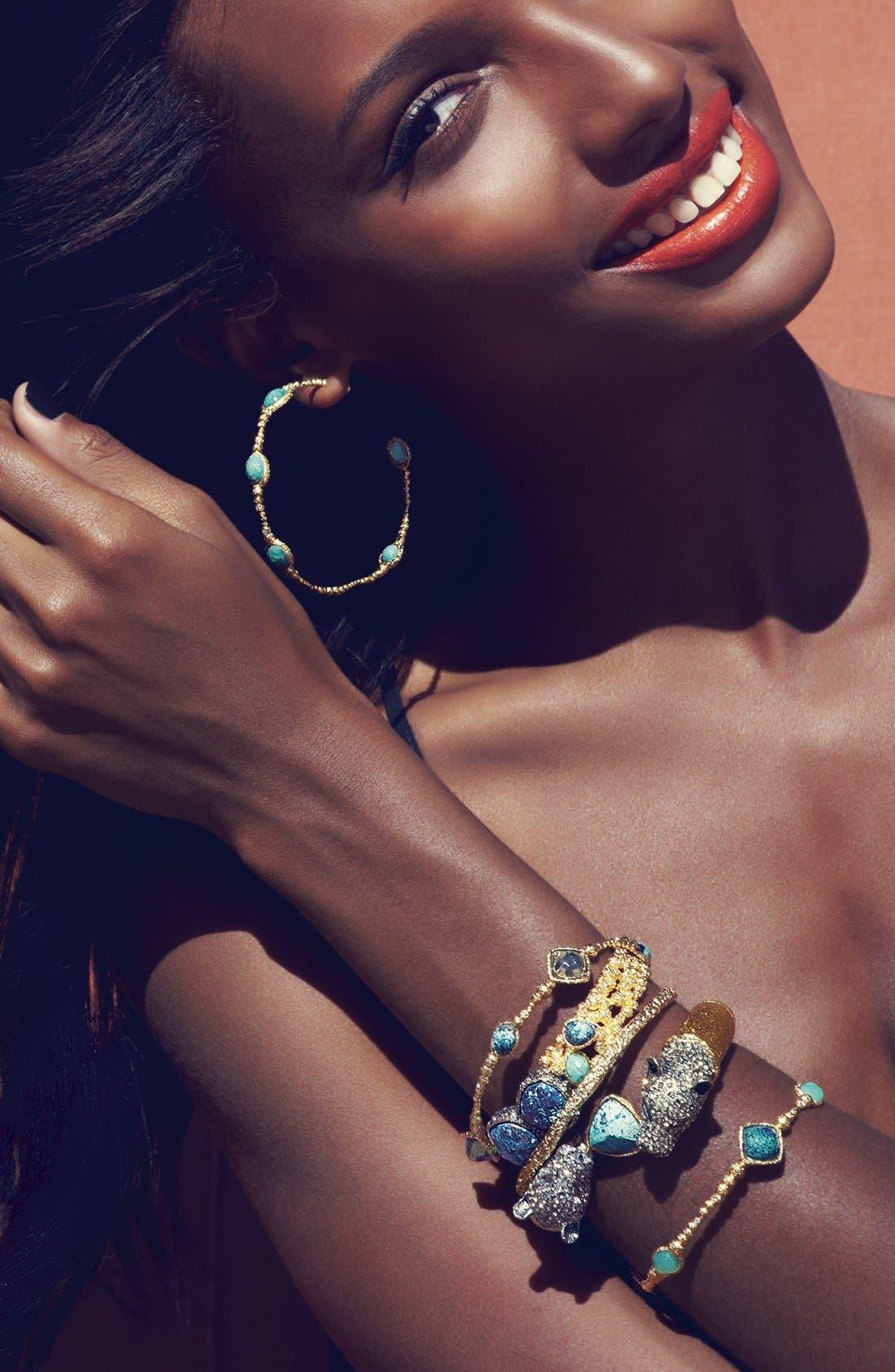Alternate Image 2  - Alexis Bittar 'Elements - Cordova' Chrysocolla Encrusted Hinged Bracelet