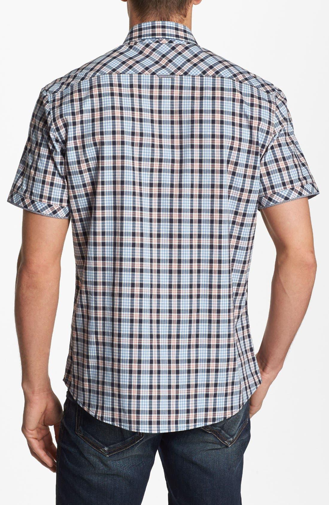 Alternate Image 3  - 7 Diamonds 'Sweet Nothing' Plaid Woven Short Sleeve Shirt