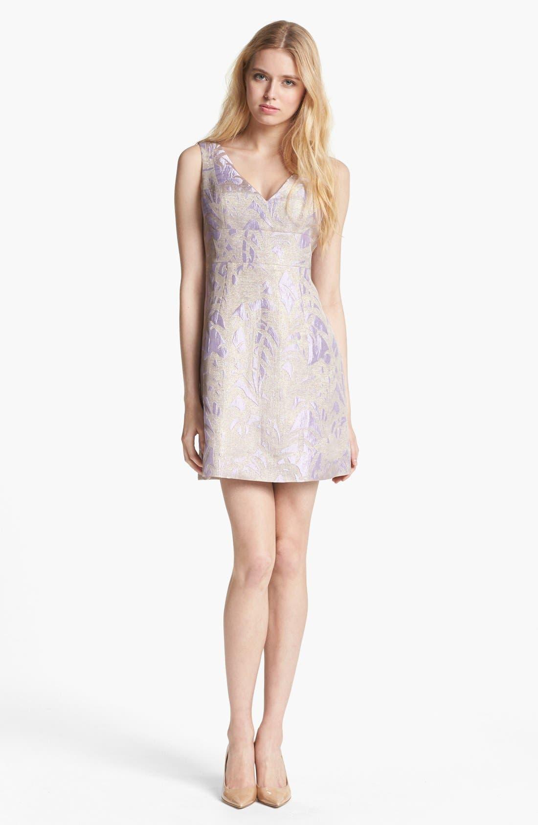Alternate Image 1 Selected - kate spade new york 'minae' jacquard a-line dress
