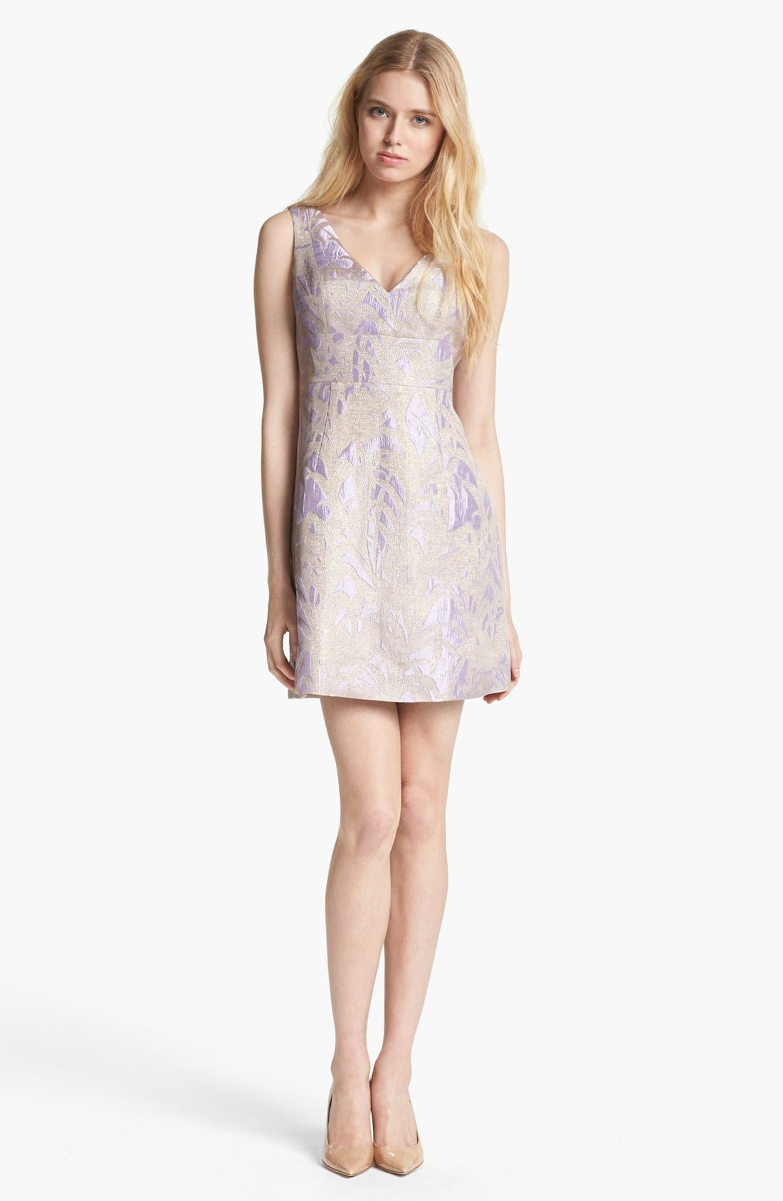 Main Image - kate spade new york 'minae' jacquard a-line dress