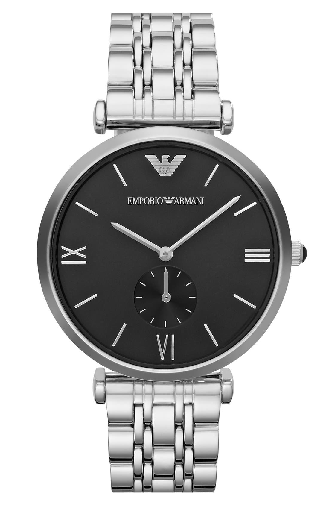 Alternate Image 1 Selected - Emporio Armani Round Bracelet Watch, 40mm