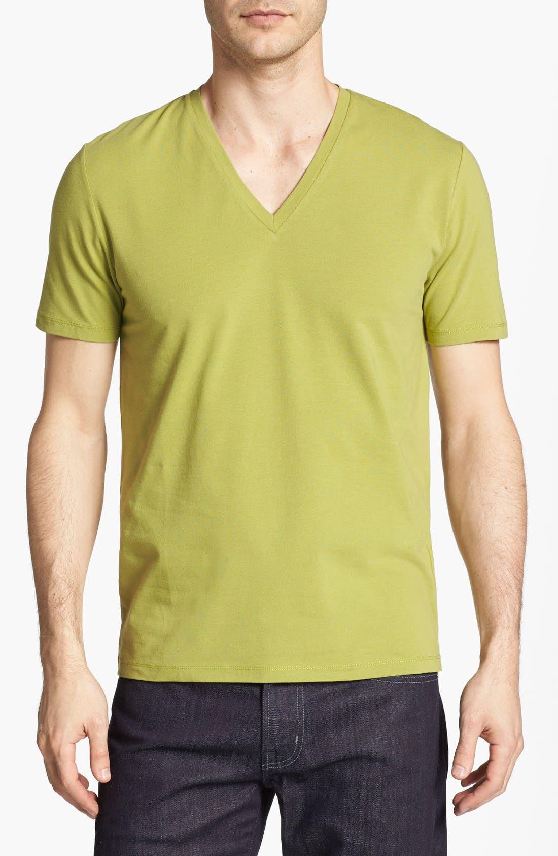 Alternate Image 1 Selected - HUGO 'Dredoso' V-Neck T-Shirt