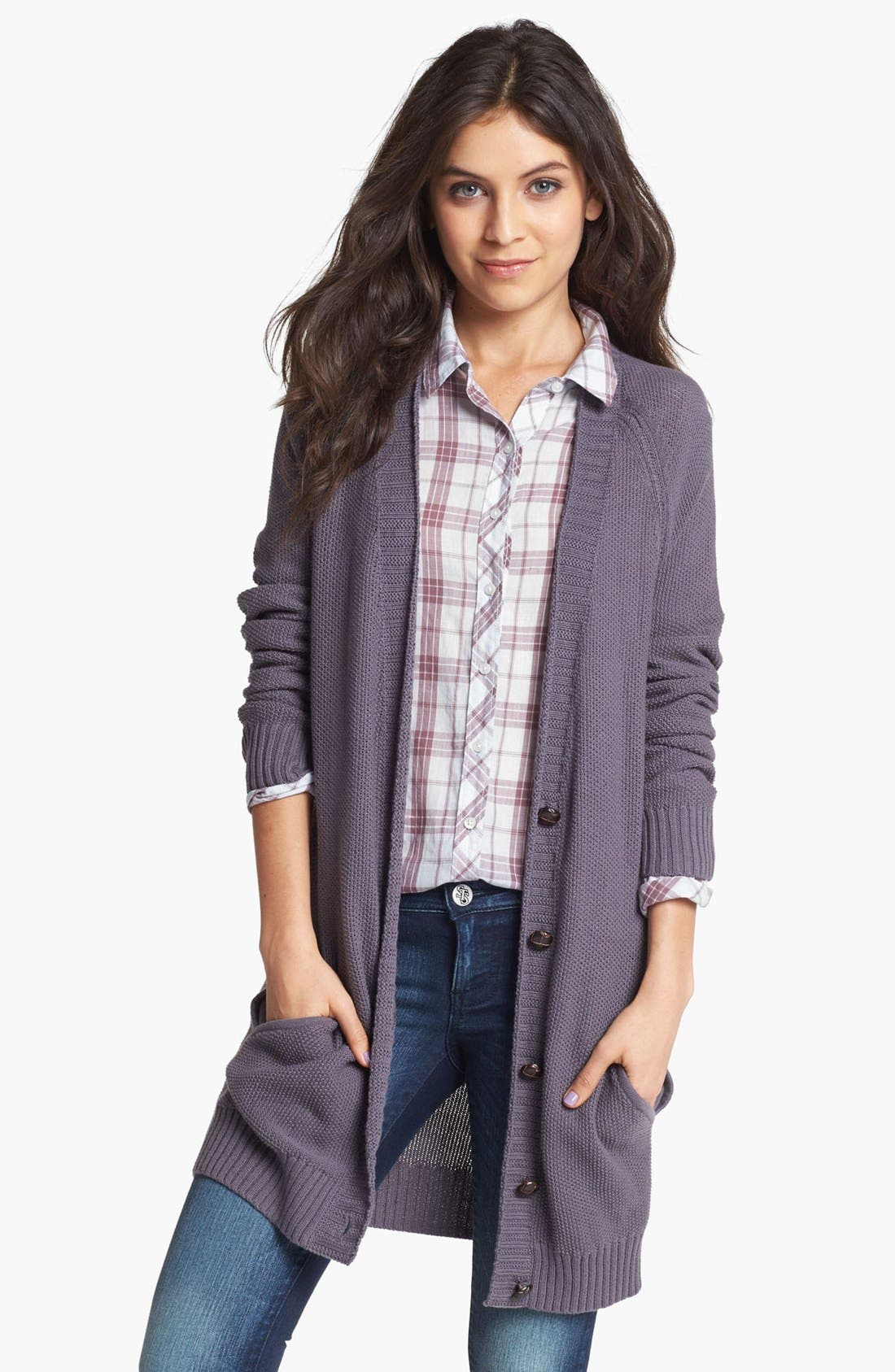 Alternate Image 1 Selected - Rubbish® Long Cardigan (Juniors)